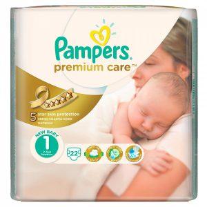 Pampers 1 Premium Care 22 bucati