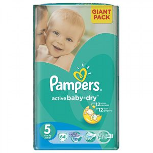 Scutece, Numarul 5, Active Baby, 11-18 Kg, 64 bucati, Pampers