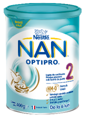 Formula de lapte praf Nestle Nan 2 Optipro 400 g, de la 6 luni