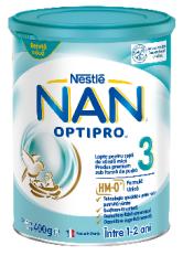 Formula de lapte praf Nestle Nan 3 Optipro 400 g, 1-2 ani