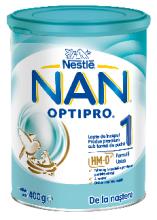 Formula de lapte praf Nestle Nan 1 Optipro 400 g, 0-6 luni