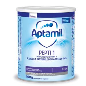 Formula de lapte Aptamil Pepti 1, 400 g,0 – 6 luni, Nutricia