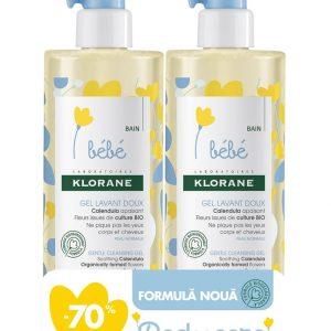 Klorane Bebe Gel Spumant pentru par si corp 1 + -70% la al doilea,Klorane
