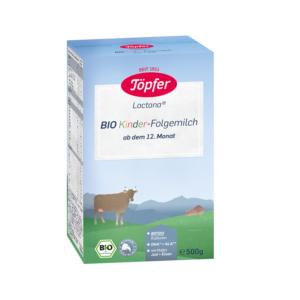 Formula de lapte praf Kinder Organic, Topfer, 500 g, de la 1 an