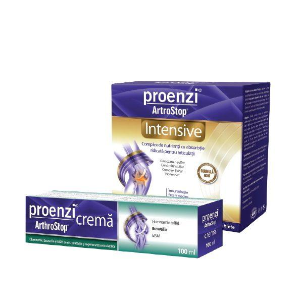 Pachet Proenzi Artrostop Intensive, 120 capsule + Crema Artrostop 100ml, Walmark