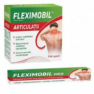 Fleximobil Articulatii Pachet 60cps+gel 100g, FITERMAN