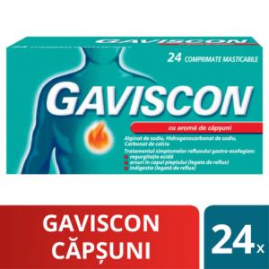 Gaviscon cu aroma de capsuni, 24 comprimate masticabile, Reckitt Benckiser Healthcare