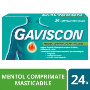 Gaviscon Mentol, 24 comprimate masticabile, Reckitt Benckiser Healthcare