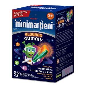 Minimarțieni Glowing Gummy, 50 jeleuri, Walmark