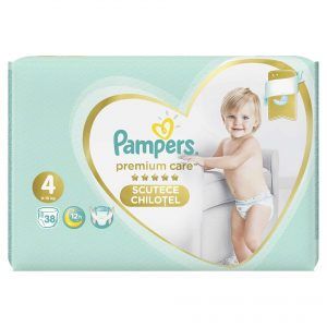 Pampers 4 Premium Care Pants * 38 Bucati + 1 Pachet Servetele Pampers Cadou