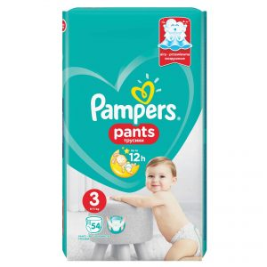 Pampers 3 Pants Active Baby * 54 Bucati + 1 Pachet Servetele Pampers cadou