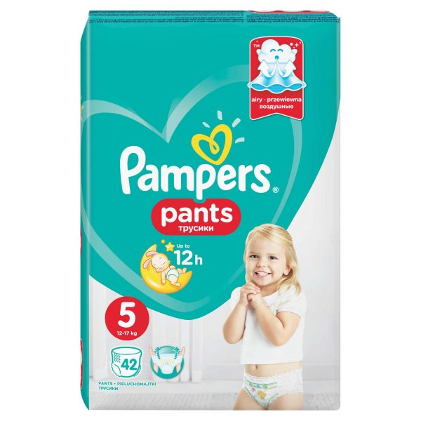 Pampers 5 Pants Active Baby * 42 Bucati + 1 Pachet Servetele Pampers Cadou