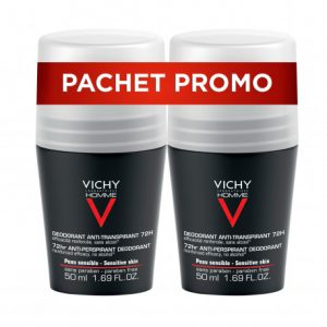 Vichy Homme Deo Roll-on Control Extrem Eficacitate 72h * 50ml (1+1)