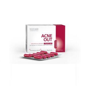 Acne Out supliment pentru ten gras cu tendinta acneica, 30 capsule, Biotrade