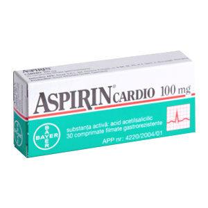 Aspirin Cardio 100mg, 28 comprimate, Bayer