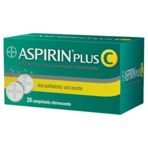 Aspirin Plus C, 20 comprimate efervescente, Bayer