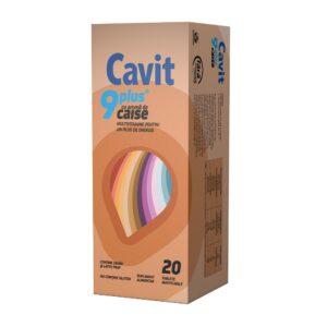 Cavit 9 plus caise, 20 tablete masticabile, Biofarm
