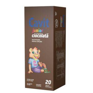 Cavit Junior ciocolată, 20 tablete masticabile, Biofarm