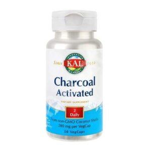 Charcoal Activated (Carbune medicinal) 280 mg Kal, 50 capsule, Secom