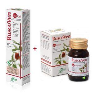 Ofertă Pachet, Ruscoven Plus, 50 capsule + Ruscoven Gel Bio, 100 ml, Aboca