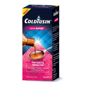 Coldtusin sirop de tuse cu ingrediente naturale, 120 ml, Perrigo