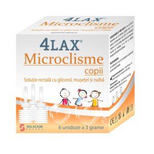 4 lax microclisme copii, 6 bucati, Solacium
