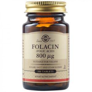 Acid Folic 800mcg, 100 comprimate, Solgar
