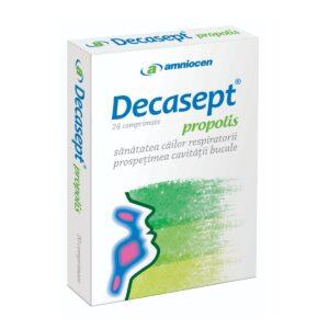 Decasept Propolis, 24 comprimate, Amniocen