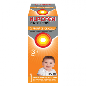 Nurofen sirop copii portocala 100mg/5ml, 200ml, Reckitt