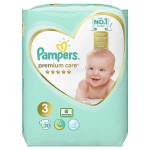 Pampers 3 premium care, 20 bucati, Pampers